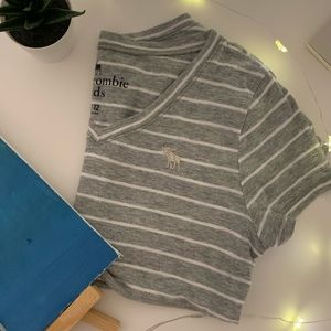 Grey and White Abercrombie Tee
